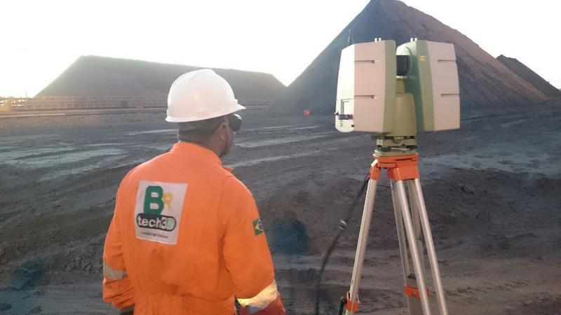 Laser scanner 3d topografia